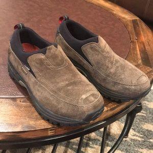 Merrell Brown Suede Waterproof Slip Ons
